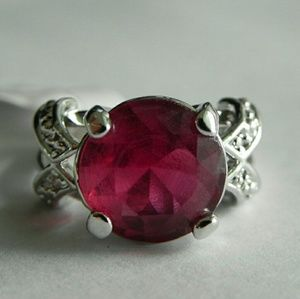 3.77 CTW Pink Tourmaline Ring Size 6 ( US )